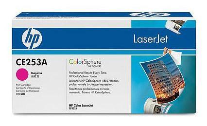 Картридж HP CE253A пурпурный для Color LaserJet CM3530 CP3525 7000стр цена