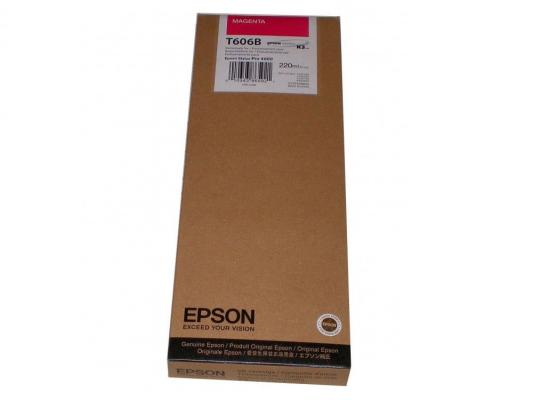 Картридж Original Epson [C13T606B00] для Epson Stylus Pro 4880 (220 мл) Magenta original high quality print head for epson nx430 me570 x430 me570w xp212 xp215 me301 sx440w xp201 wf435 printhead