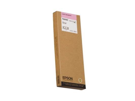 Картридж Epson C13T606C00 для Epson Stylus Pro 4880 светло-пурпурный пазлы контуры toysunion деревенька 7 пазлов 22эл 00 606