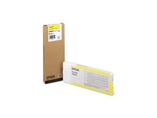 Картридж Epson C13T606400 для Epson Stylus Pro 4880 желтый 220 мл картридж epson t009402 для epson st photo 900 1270 1290 color 2 pack