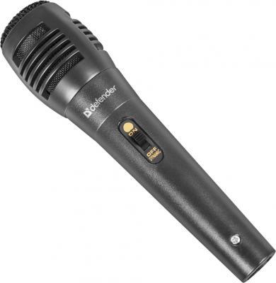 Микрофон Defender MIC-129, черный, 5м кабель, 73дБ