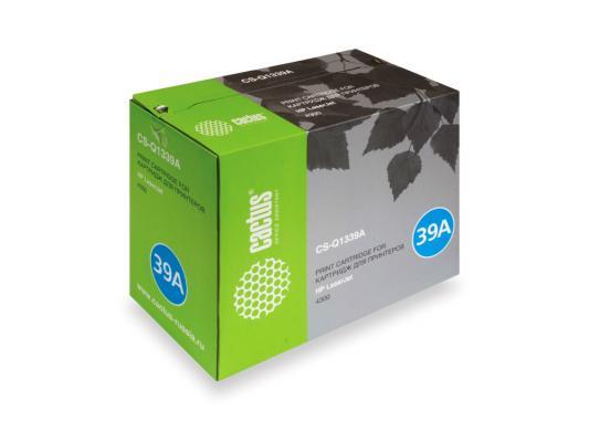 Картридж CACTUS CS-Q1339A для HP LaserJet 4300 черный 18000стр veconor 8pcs set ratchet spanner combination wrench set ratchet handle key chrome vanadium 8 10 12 13 14 15 17 19mm
