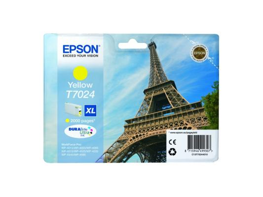 Картридж Epson C13T70244010XL для Epson WP 4000/4500 Series желтый 2000стр
