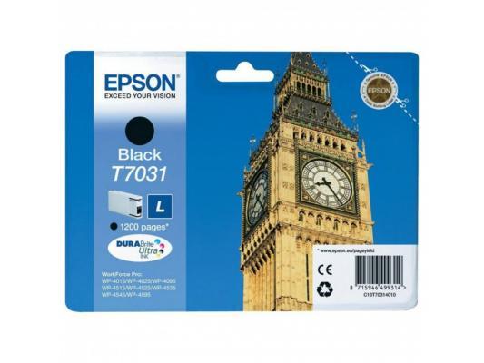 Картридж Epson C13T70314010 для Epson WP4000/4500 черный принтер струйный epson l312