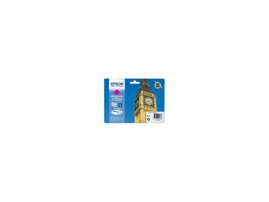 Картридж Epson C13T70334010 L для WP 4000 4500 Series Magenta Пурпурный картридж epson c13t70244010xl для epson wp 4000 4500 series желтый 2000стр
