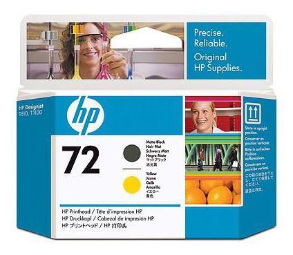 Печатающая головка HP C9384A №72 черная + желтая для Designjet T1100 T610