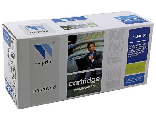 Картридж NV-Print MLT-D105L для Samsung ML-1910 nv print ml4550b тонер картридж для samsung ml 4050n 4550 4551n 4551nd