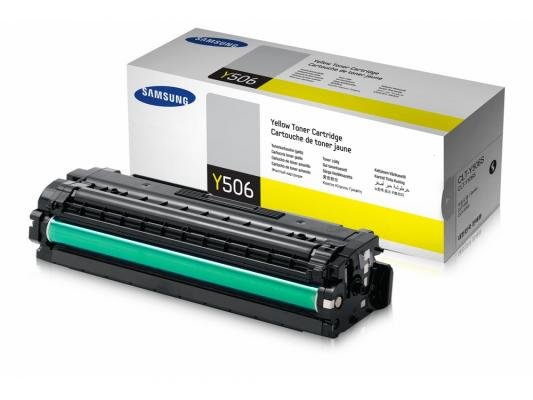 Картридж Samsung CLT-Y506S для CLP-680ND CLX-6260FD 6260FR желтый toner powder and chip for samsung 506 clt 506 for clp 680 clx6260fw clx 6260nd clx 6260nr laser printer hot sale