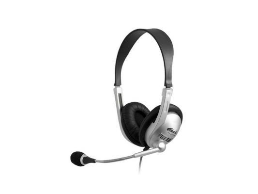 Гарнитура Ritmix RH-533USB черный серебристый гарнитура ritmix rh 105m белый