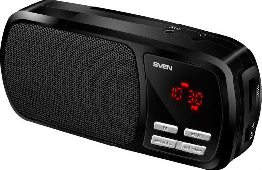 все цены на Портативная акустика Sven PS-50 FM MP3 microSD 800mAh черный онлайн