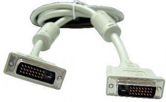 Кабель DVI-D dual link Gembird, 1.8м, 25M/25M, экран, феррит.кольца, пакет