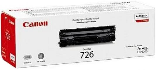 Картридж Canon 726 для LBP 6200 черный 2100стр canon 712 1870b002 black картридж для принтеров lbp 3010 3020