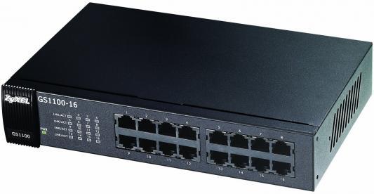 Коммутатор Zyxel GS1100-16 коммутатор zyxel gs1100 16 gs1100 16 eu0101f