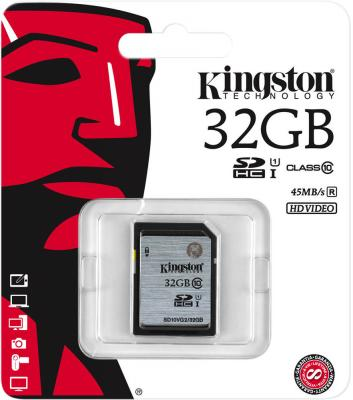 Карта памяти SDHC 32Gb Kingston Video Class10