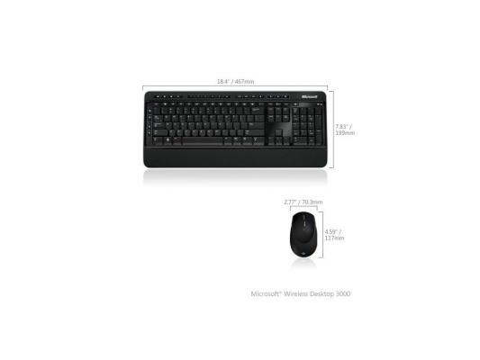 (MFC-00019) Клавиатура+мышь Microsoft Wireless Desktop 3000 USB BlueTrack Black Retail