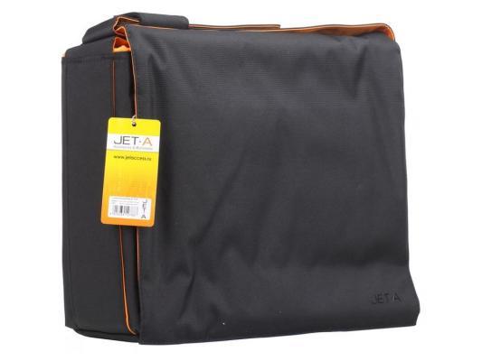 """Сумка для ноутбука 15.6"""" Jet.A LB15-12 полиэстер черный оранжевый"""