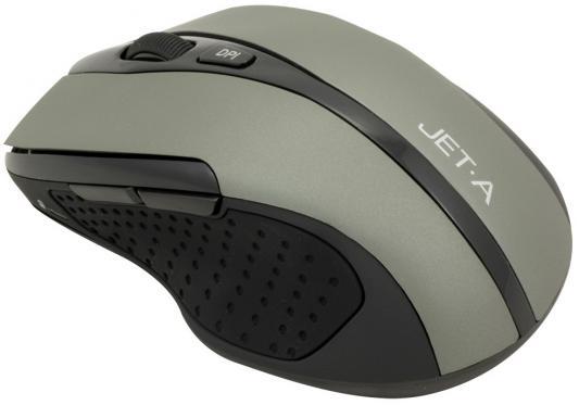 Мышь Jet.A Black Style OM-U25G серый - Jet.AМыши<br>Бренд: Jet.A, Тип: Беспроводные, Назначение: Для ноутбуков, Сенсор: Оптический, Цвет: Серый, Подключение к компьютеру: USB<br>