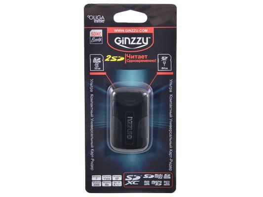Внешний картридер Ginzzu GR-422B черный внешний картридер ginzzu gr 422b черный
