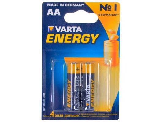Батарейки Varta Energy AA 2 шт 4106213412 батарейки varta energy lr6 aa 4 шт 4106213414