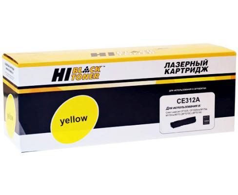 Картридж Hi-Black для HP CE312A/№126A CLJ CP1025/1025nw/Pro M175 желтый 1000стр картридж для принтера hi black hp q5949x q7553x black