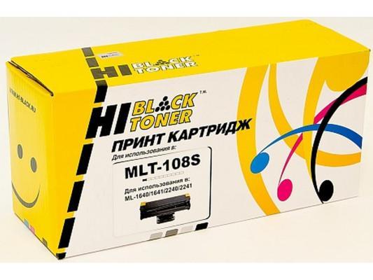 Картридж Hi-Black для Samsung MLT-108S ML1640/1641/2240/2241Black черный с чипом 1500стр valle giraffe 04 слоновая кость