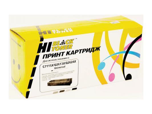 Лфзерный картридж Hi-Black черный для HP C7115X/Q2613X/Q2624X LJ 1200/1300/1150 4000стр hp q2613x black