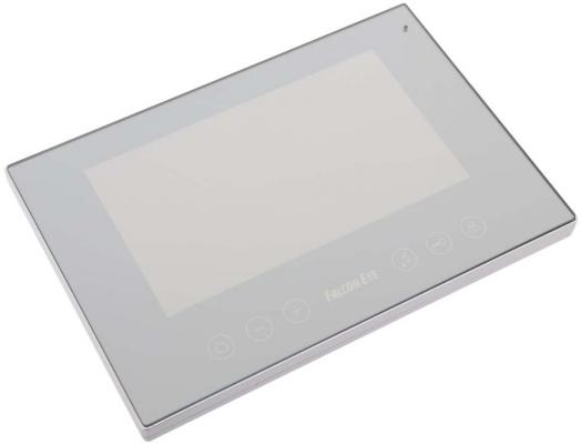 """Видеодомофон Falcon Eye FE-78Z цветной TFT LCD 7"""" , зеркальная поверхность, на 2 вызывные панели, открытие замка, сенсорные кнопки"""
