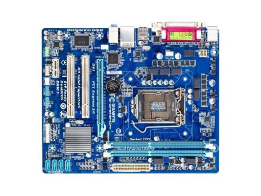 Материнская плата Gigabyte GA-H61M-S2PV <S1155, iH61, 2*DDR3, PCI-E16x, 2*PCI, SVGA, DVI, SATA II, LPT, GB материнская плата gigabyte ga h61m s2pv