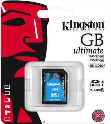 Карта памяти SDXC 64Gb Kingston Class10 карта памяти kingston sdc10 16gbsp