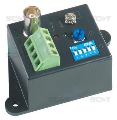 Приемник видеосигнала SC&T TTA111VR по витой паре на 2400 м TTA111VR-N