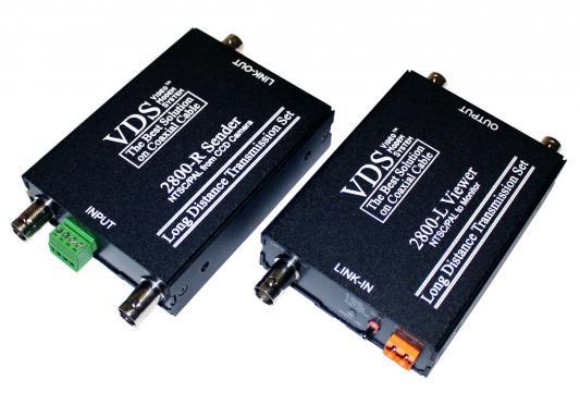 Комплект SC&T VDS 2800 (DC12V) комбинирует в себе функции VDS2500 и VDS 2100/2200 Передача видеосигнала аудиосигнала сигнала тревоги и передача напряжения питания для видеокамер 12V
