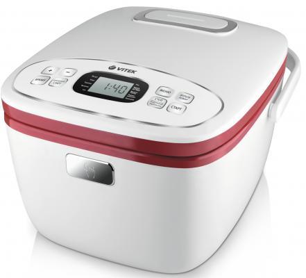 Мультиварка Vitek VT-4214(R) белый красный 800 Вт 5 л