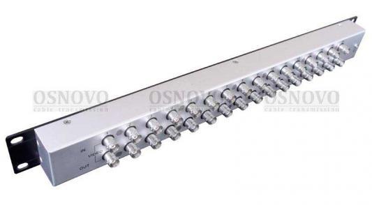 Устройство грозозащиты OSNOVO SP-C16C для цепей видео 16 входов BNC-мама/16 выходов BNC-мама для крепления в монтажную стойку 19 1U вставка в монтажную полосу для крепления к стене dura trax 3шт kenovo