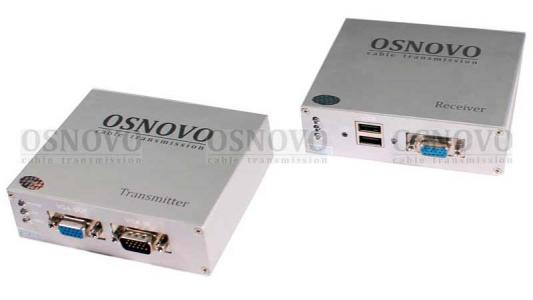 Комплект OSNOVO TA-VKM/7+RA-VKM/7 приемник + передатчик для передачи VGA/Клавиатура/Мышь до 300м