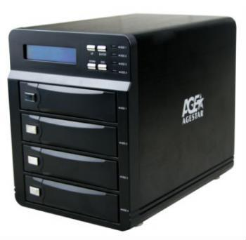 Внешний контейнер для HDD 3.5 SATA AgeStar 3C4B3A 4x3.5 HDD USB3.0 eSATA max16Tb черный acasis esata 3 5 hdd enclosure protective box ash black