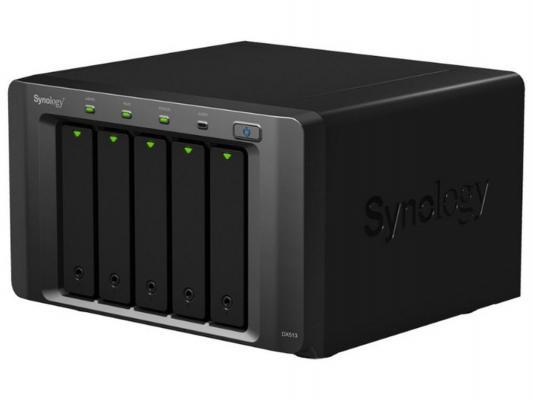 Сетевой накопитель Synology DX513 Настольный модуль расширения на 5 HDD подключаемый по eSATA