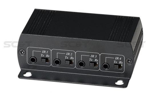 Комплект SC&T IE01 для передачи сигнала ИК управления по одному кабелю витой пары CAT5 на расстояние до 1200м Поддерживает двунаправленную передачу