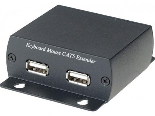 Удлинитель SC&T KM03-2 для клавиатуры и мыши по одному кабелю CAT5 UTP локальная и удаленная часть