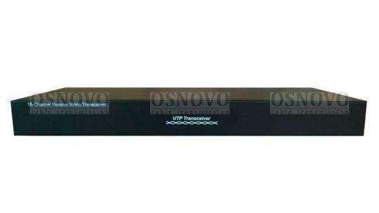 Приемопередатчик видеосигналов OSNOVO TP-C16 16-канальный по витой паре 600 м