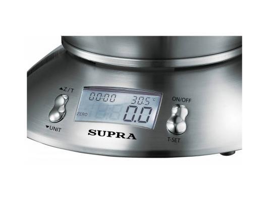 Весы кухонные Supra BSS-4095 серебристый