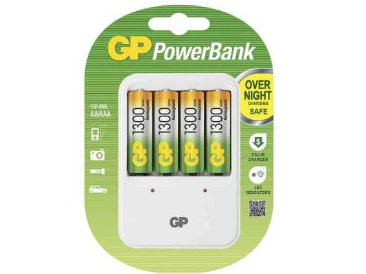 цена на Зарядное устройство + аккумуляторы GP PB420GS130-2CR4 1300 mAh AA 4 шт