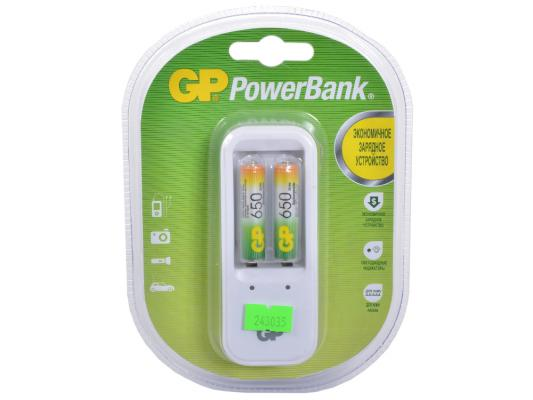 Зарядное устройство + аккумуляторы GP PB410GS65-2CR2 650 mAh AAA 2 шт