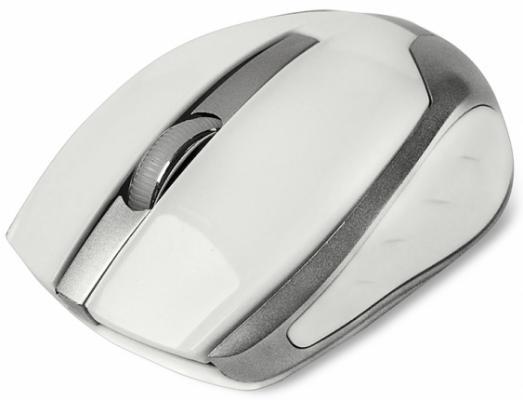 Мышь беспроводная CBR CM-422 белый USB мышь cbr cm 500 grey