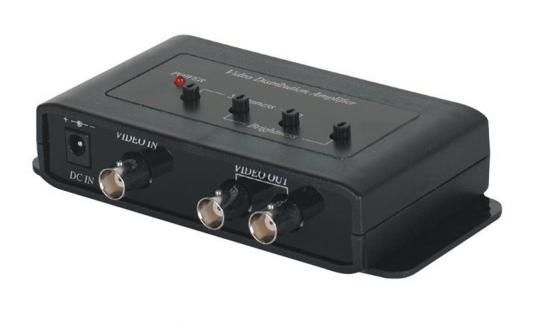 Распределитель SC&T CD102A видеосигнал с усилением 1 вход - 2 выхода распределитель gardena 2 х канальный 1 00940 20