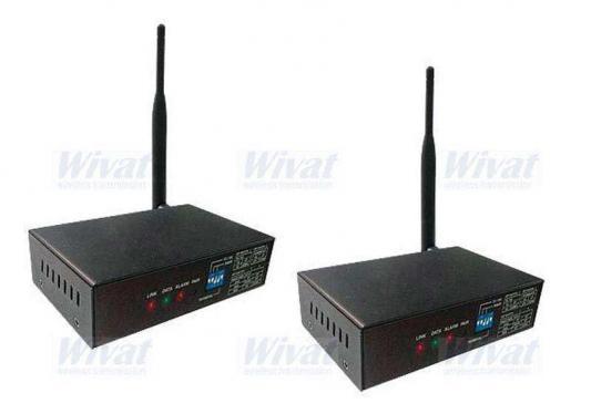 Беспроводной комплект Wivat WT2.4/6+WR2.4/6 передатчик+приёмник для цифровой односторонней передачи RS485 для управления камерой и двусторонней передачи замыкания 1-о контакта