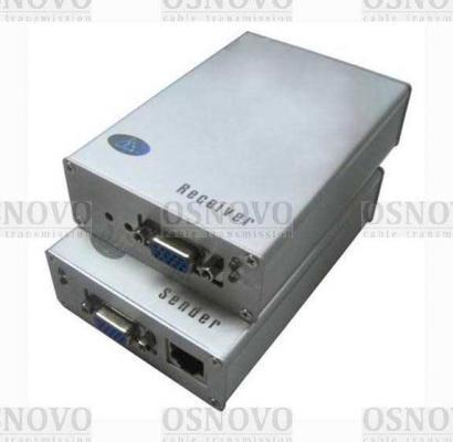 Комплект OSNOVO TA-V/3+RA-V/3 передатчик+приёмник для передачи VGA и аудиосигнала по кабелю UTP CAT5 до 200м пассивный комплект osnovo ppk 11 инжектор сплиттер для передачи poe по кабелю cat 5e