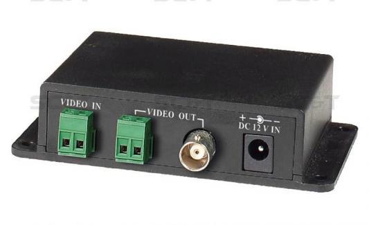 Распределитель 1 видеовход клеммы и 2 видеовыхода на витую пару клеммы и 1 BNC на локальный монитор + Встроенный приемник TTA111VR Sc&t TDA102