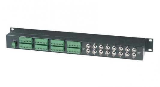 Фото - Приемопередатчик SC&T TPP016D пассивный, 16-ти канальный для передачи видеосигналов и данных по витой паре на 600 м приемопередатчик аудиосигнала sc