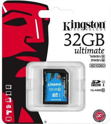 Карта памяти SDHC 32Gb Kingston Class10