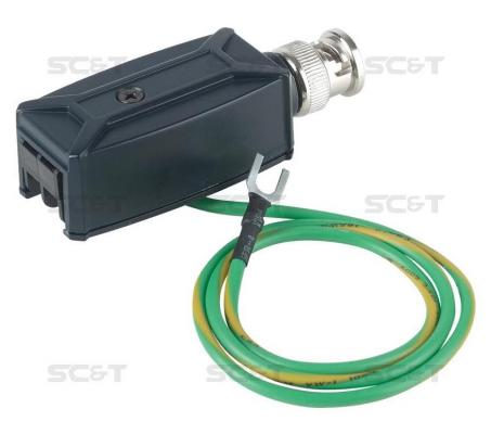 Приемопередатчик видеосигнала SC&T TTP111VTS по витой паре на 600м